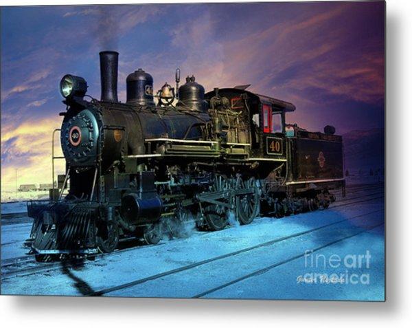 Steam Engine Nevada Northern Metal Print