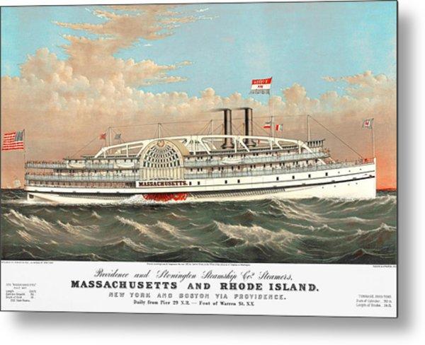 Steamship Massachusetts Metal Print
