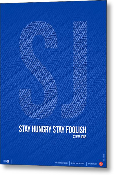 Steve Jobs Quote Poster Metal Print