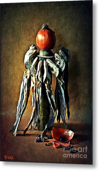 Still Life With Stockfish Metal Print