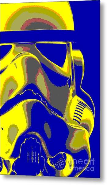 Stormtrooper Helmet 7 Metal Print by Micah May
