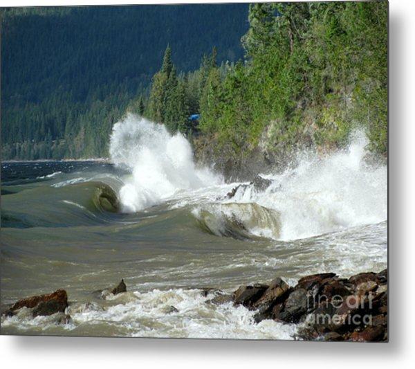 Stormy Lake Metal Print