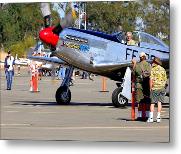 Stu Eberhardt And His P51d Merlin's Magic  Metal Print by John King