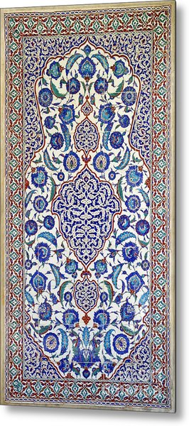 Sultan Selim II Tomb 16th Century Hand Painted Wall Tiles Metal Print