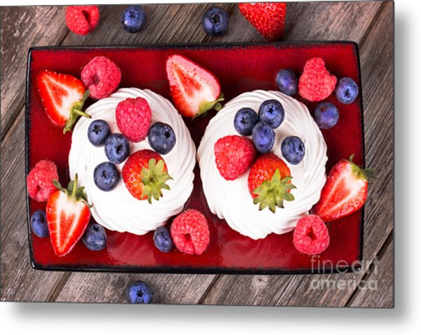 Summer Fruit Platter Metal Print