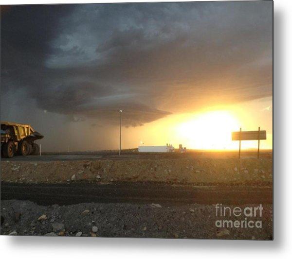 Summer Storm Metal Print by Barry Olsen
