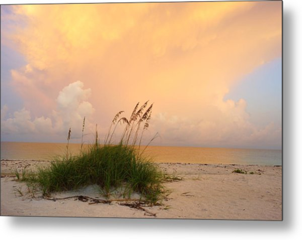 Summer Sunrise On Nokomis Beach Metal Print