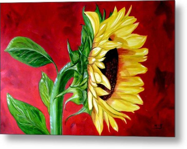 Sunflower Sunshine Metal Print by Maria Soto Robbins