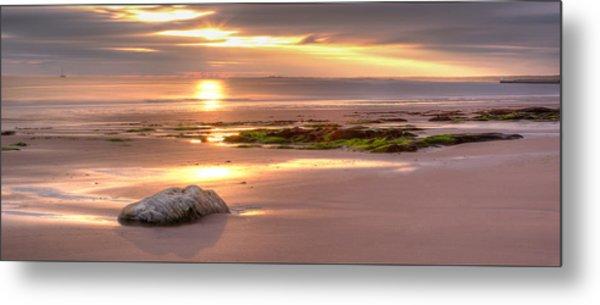 Sunrise At Nairn Beach Metal Print