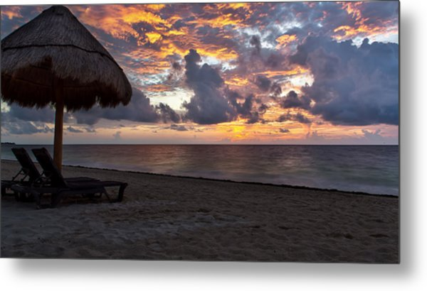 Sunrise In Cancun Mexico Metal Print