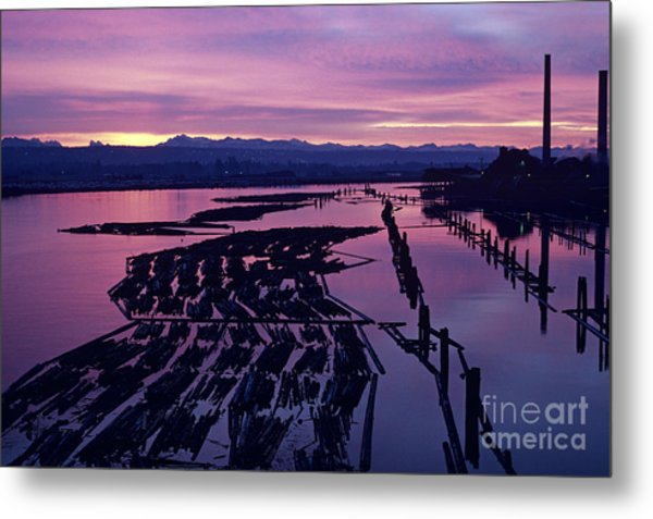 Sunrise Lumber Mill Metal Print