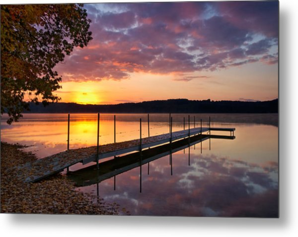 Sunrise On Keoka Lake Metal Print