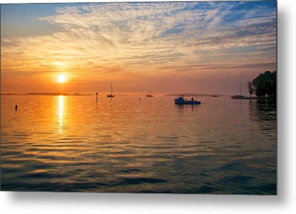 Sunrise On The Chesapeake Bay Metal Print