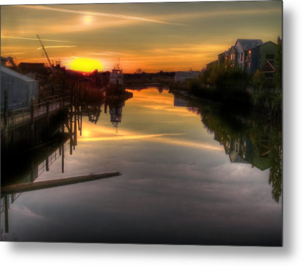 Sunrise On The Petaluma River Metal Print
