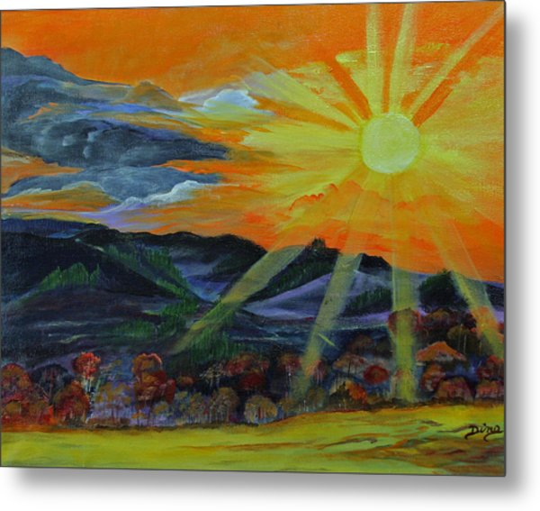 Sunrise Over The Mountains Metal Print by Dina Jacobs