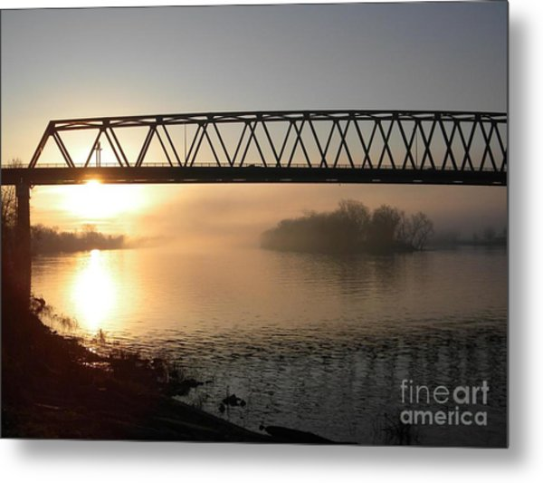 Sunrise Over The Ohio Metal Print