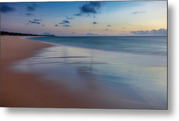 Sunset Above Papohaku Beach On Molokais Metal Print