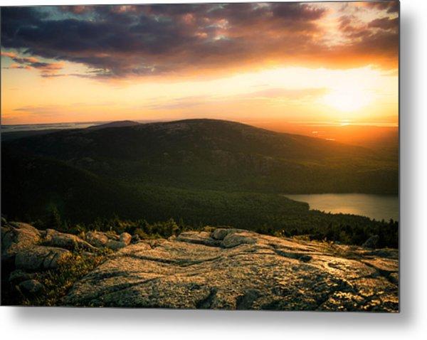 Sunset Acadia National Park Maine Metal Print