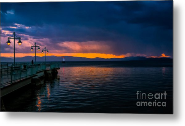 Sunset After A Passing Thundershower. Metal Print