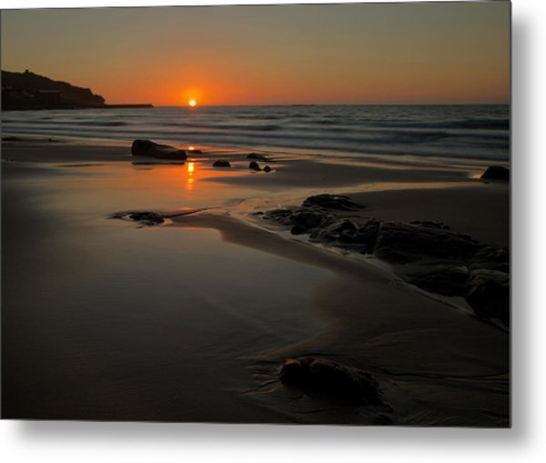 Sunset At Sennen Metal Print