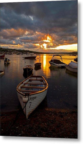 Sunset At Teignmouth Metal Print