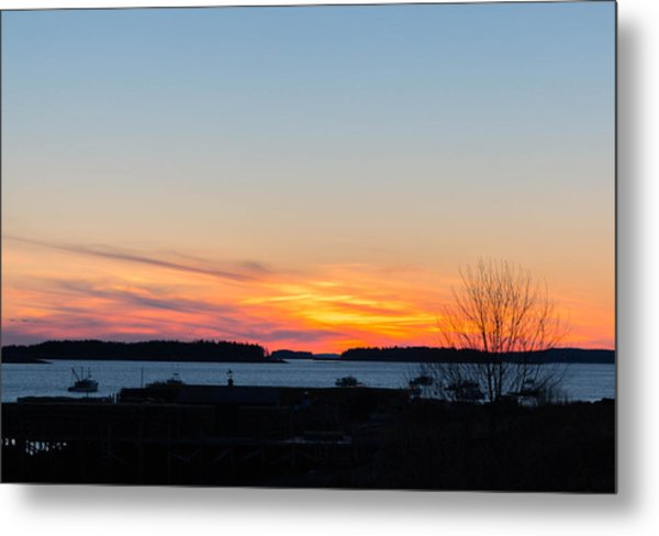 Sunset Down East Maine  Metal Print