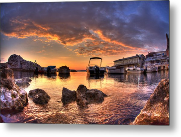 Sunset Metal Print by Karim SAARI