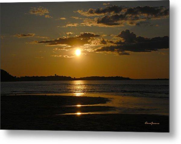 Metal Print featuring the photograph Sunset On Crane Beach by AnnaJanessa PhotoArt