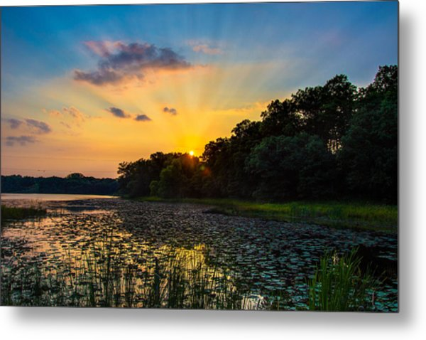 Sunset On Lake Masterman Metal Print