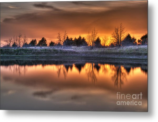 Sunset Over Bryzn Metal Print