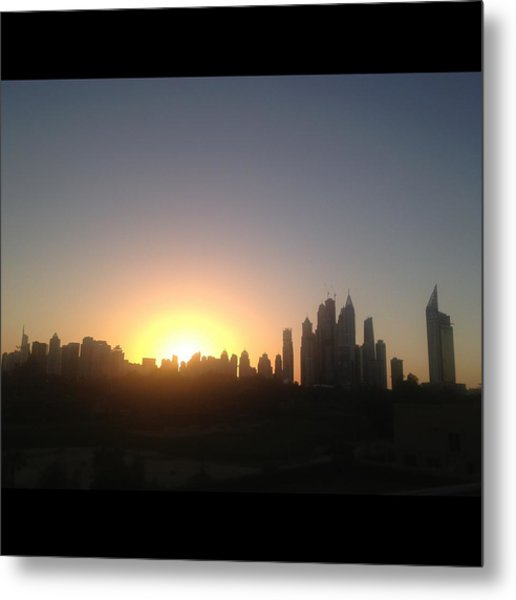 Sunset Over Dubai Feb 2013 Metal Print by Maeve O Connell