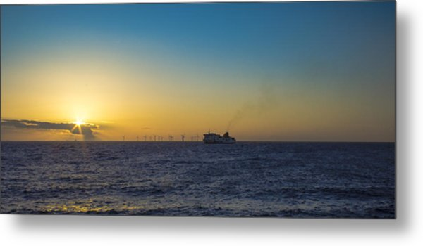 Sunset Over The Irish Sea Metal Print by Paul Madden
