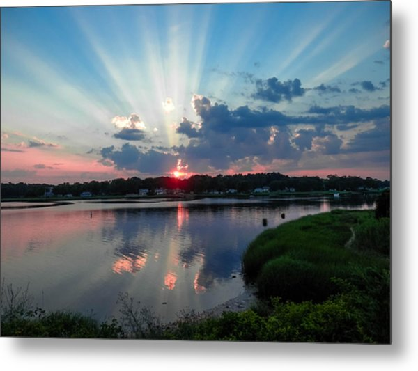 Sunset Rays Metal Print by Heather Sylvia