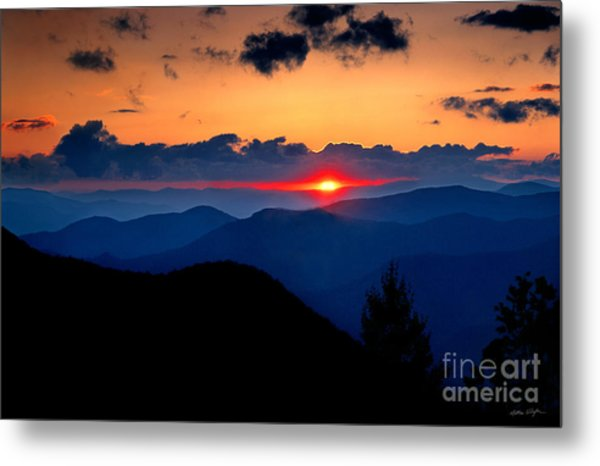 Sunset View From The Blue Ridge Parkway 2008 Metal Print
