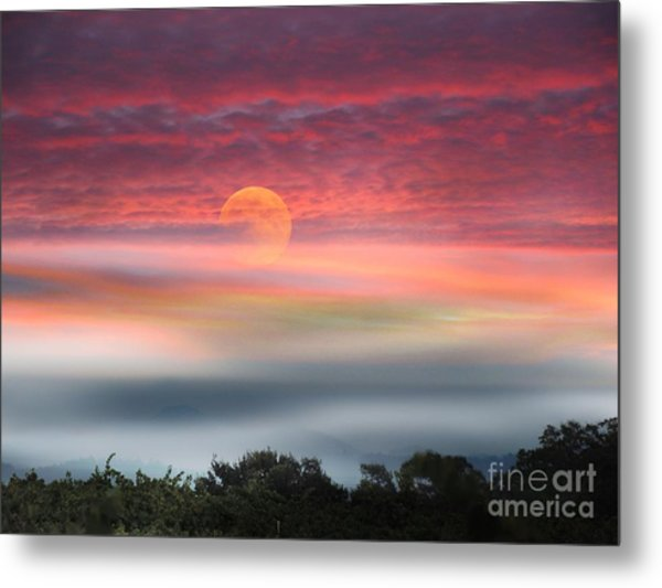 Super Moon Over Santa Rosa Metal Print