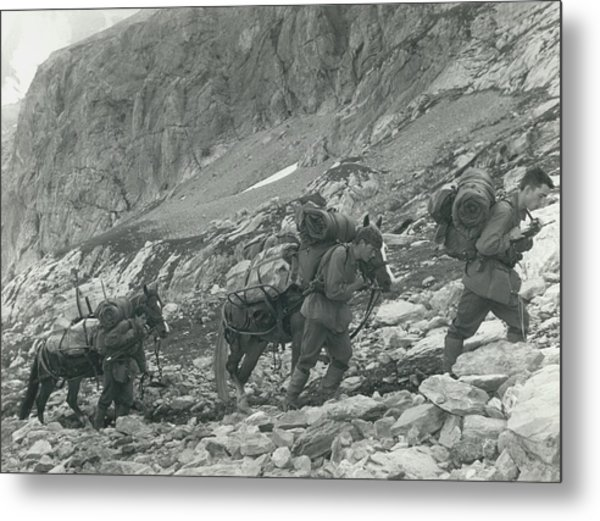 Swiss Radio On The Mountains Metal Print by Retro Images Archive