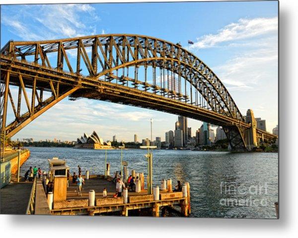 Sydney Harbour Bridge Arching Gracefully Over Sydney Harbour Metal Print