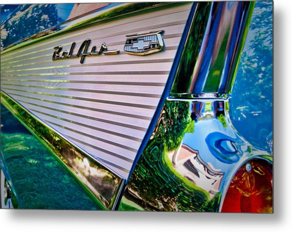 Metal Print featuring the photograph Tail Fin by Jeff Sinon