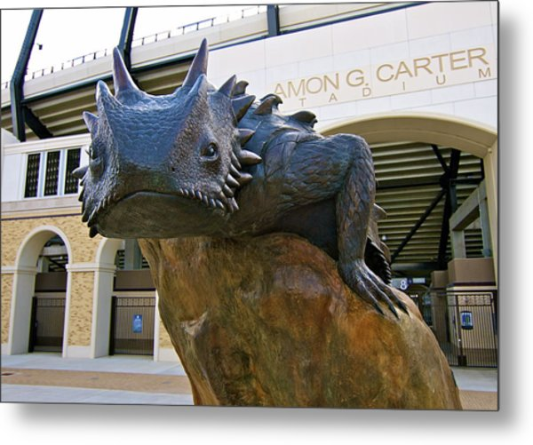 Tcu Horned Frogs..fear The Frog Metal Print