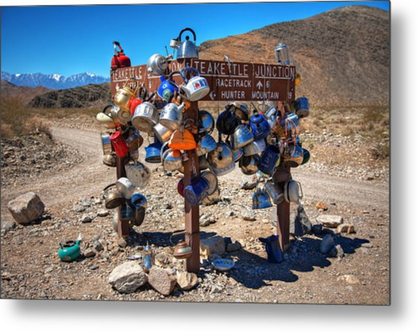 Teakettle Junction New Sign Metal Print