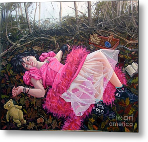 teddy Bears Picnic Metal Print by Shelley Laffal