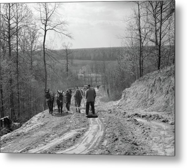 Tennessee Roads, 1936 Metal Print by Granger