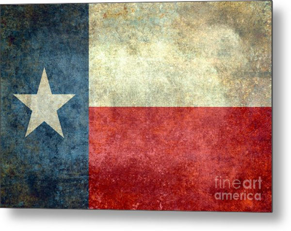 Texas The Lone Star State Metal Print
