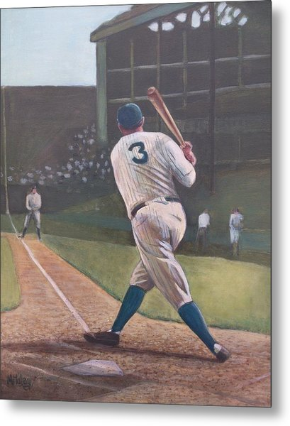 The Babe Sends One Out Metal Print by Mark Haley