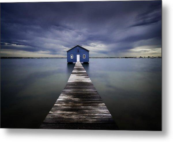 The Blue Boatshed Metal Print
