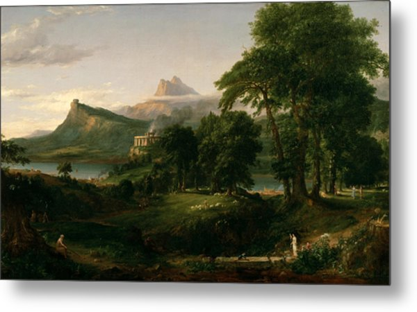 The Course Of Empire The Arcadian Or Pastoral State Metal Print