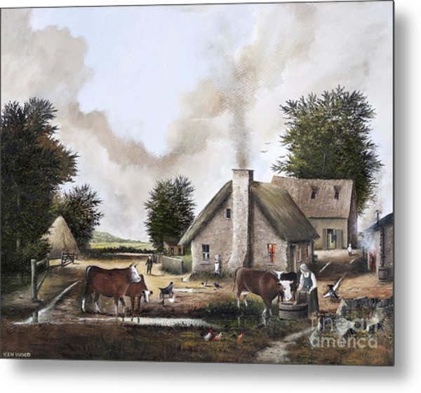 The Farmyard Metal Print