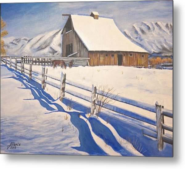 The First Snow Metal Print by Jim  Reale
