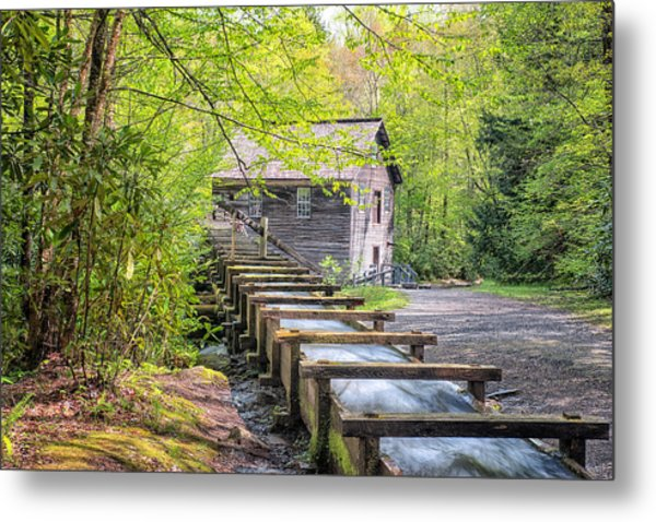 The Flume At Mingus Mill Metal Print
