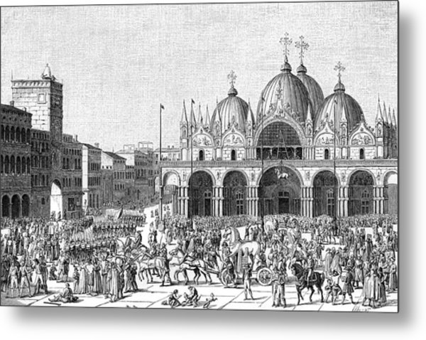 The French Pillage Venice,  Carrying Metal Print by Mary Evans Picture Library
